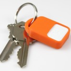 reader on keyring, orange