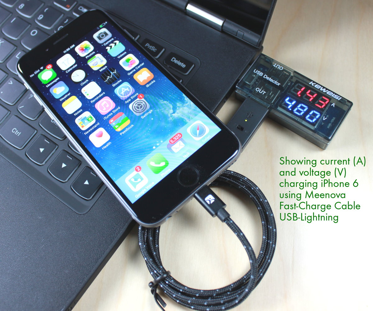 Smart Amp Secure Fast Charge Usb Lighting Cable By Meenova